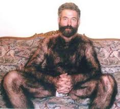 man with thick body hair all over