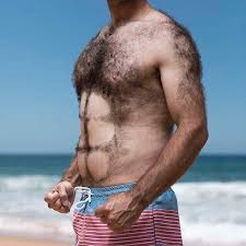 manscaping shaved chest hair abs