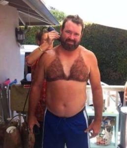 manscaping shaved chest hair bikini top