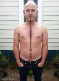 manscaping shaved chest hair landing strip line